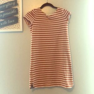 Orange striped dress